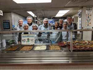 Serving dinner at St. Vincent de Paul